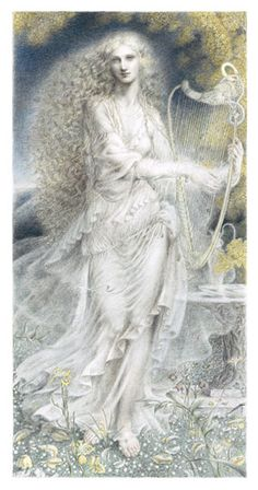 "Galadriel, ""Queen of the Golden Wood"" by Kinuko Y. Craft"