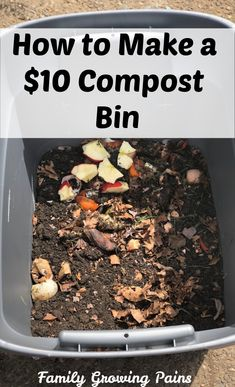 Composting is one of the best things you can do for your garden but compost bins are expensive. Here is how to make a 10 compost bin in minutes. Gardening For Beginners, Gardening Tips, Kitchen Gardening, Gardening Courses, Gardening Quotes, Flower Gardening, Gardening Supplies, Bokashi, Garden Compost