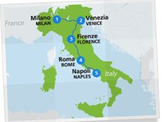Map of Italy itinerary- omg... Planning a trip to Europe is daunting but I think this is an awesome plan...