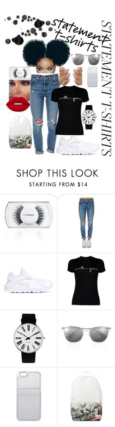 """Anti-You 😒"" by mayygoo ❤ liked on Polyvore featuring MAC Cosmetics, Levi's, NIKE, Boohoo, Rosendahl, Prada, MICHAEL Michael Kors and Sprayground"