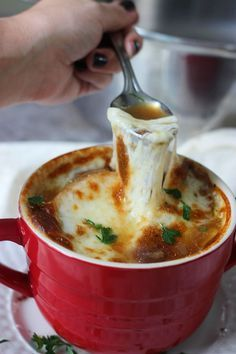 Recipe for crockpot french onion soup. Let your crockpot do all the work for this classic soup with caramelized onions, crusty bread and plenty of cheese.