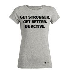 Du suchst ein T-Shirt aus Biobaumwolle mit Motivationsspruch? Dann schau in unserem Onlineshop vorbei www.be-active.at #motivationsspruch #motivationstshirt #tshirt #damenshirt #biobaumwolle #tshirt #frauen #onlineshop #onlinebestellen #geschenk #geschenkidee #motivationsshirt #motivation #fitness #fitnessmotivation #training #workout #sport #beactive Fitness Motivation, Shops, Get Well, T Shirts For Women, Workout, Cool Stuff, Fashion, Women's T Shirts, Gift