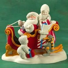 Department 56 Snowbabies Santa Claus is Coming to Town