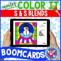 "This is a digital resource that can be accessed on the Boom Learning platform. With your purchase you will receive a PDF with a link to add these Boom Cards™ to your Boom Library.Students practice saying the /S/ and /S/ blends in words to ""paint"" a winter picture piece by piece. Four pictures total ..."