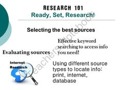 Research 101:  Ready, Set, Research! from EdTechTeacher on TeachersNotebook.com -  (39 pages)  - Research 101: Ready, Set, Research! includes a 39 slide powerpoint that serves as a modern, interactive introduction to student research. The presentation focuses on showing students how to select the best resources, access the results they need using dif