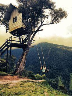 Casa del Arbol in Banos, Ecuador by ryder_bethany, via Flickr