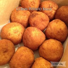 I love these things.   Cuban Potato Balls
