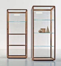 Vitrine contemporaine / en bois / en verre / éclairée - 45° by Ron ...
