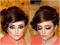 Makeup by malika Party Makeup, Most Beautiful, Hoop Earrings, Suit, Bridal, Women, Fashion, Moda, Festival Makeup