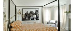 Big horse picture/Big art in the bedroom
