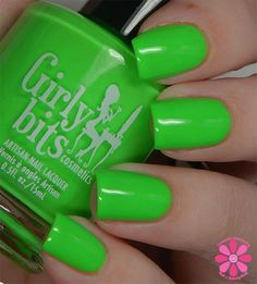 Girly Bits - Hooperchondriac From the 'Hoop! There It Is' collection. A neon green creme. Available April 19th 2015 www.girlybitscosmetics.com