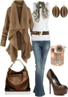 Winter fashion. LOVE <3 that sweater! ♥ #organizedliving #organizedcloset - not the shoes though - i'd kill myself