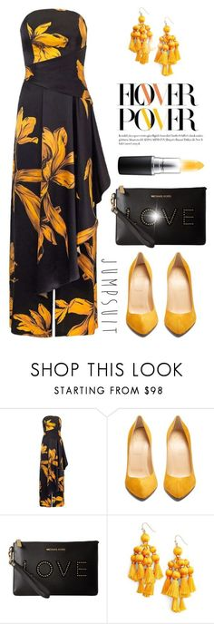 """Jumpsuit!"" by fashionlibra84 ❤ liked on Polyvore featuring Christian Louboutin, MICHAEL Michael Kors, Kate Spade and John Lewis"