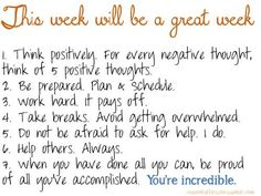 Image result for positive week ahead quotes
