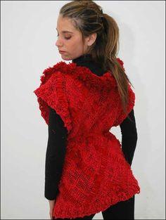 chaleco hilado de algodón y corderoy