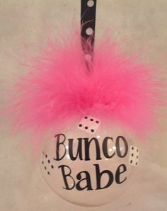 Bunco Babe Ornaent --crazy fun!