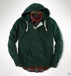 eb8aa2e6e97c Wholesale 2012 Ralph Lauren Green Pullover Mens Two buttons Hoodies
