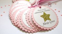 Children's Party Decorations – Star Favor Tags. 10 Thank you Tags. – a unique product by MagicalStart on DaWanda