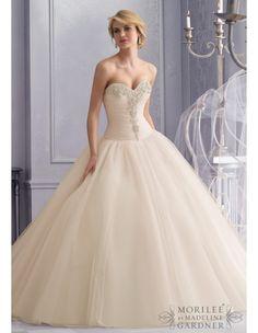 mori-lee-2677-wedding-dress-tulle-ruched-bodice-drop-waist