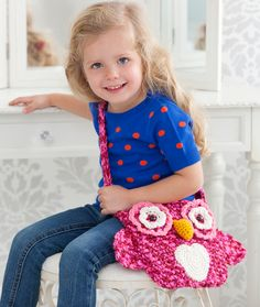 Ravelry: Wise Owl Tote Bag pattern by Michele Wilcox - free crochet pattern For Aleah! Cute Crochet, Crochet For Kids, Crochet Crafts, Crochet Toys, Crochet Projects, Knit Crochet, Crochet Crowd, Owl Patterns, Knitting Patterns
