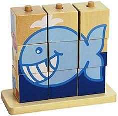 Goula - Cubos de madera, diseño mar (Diset 55198)