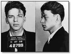 """19-year-old frank sinatra was arrested in new jersey for the crime of """"seduction"""" in 1938."""