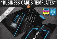 Check out Technology Business Cards Templates by joyologo on Creative Market