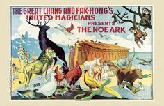 Art Print, Magic, Noah's Arc, by Chang and Fak-Hong's Magician