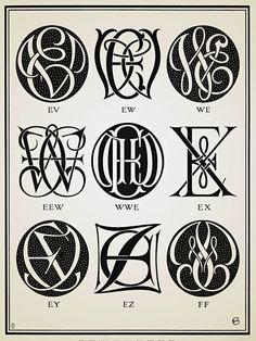 Monograms & Ciphers - 1906 #monograms                                                                                                                                                                                 More