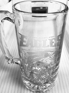 Eagles etched beer mug. Super bowl LII champions