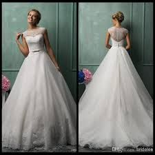 scoop back wedding gown - Google Search