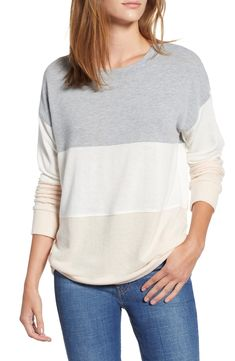 e6e52132 Free shipping and returns on Socialite Colorblock Sweatshirt at  Nordstrom.com. Stacked stripes in