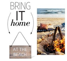 """""""Bring It Home: At the Beach Wooden Hanging Sign"""" by polyvore-editorial ❤ liked on Polyvore featuring interior, interiors, interior design, home, home decor, interior decorating, Garden Trading and bringithome"""