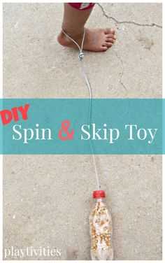 DIY spin and skip toy