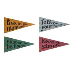 IMAX Corporation Happy 4 Piece Pennant Set