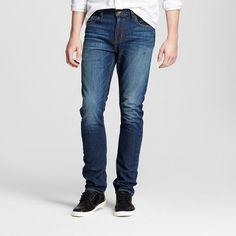 Men's Slim Jeans Medium Wash 36x32- Mossimo Supply Co., Size: 36x32, Blue