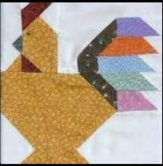 quilt block patterns of chickens Barn Quilt Patterns, Paper Piecing Patterns, Pattern Blocks, Small Quilts, Mini Quilts, Quilting Projects, Quilting Designs, Longarm Quilting, Bird Quilt Blocks