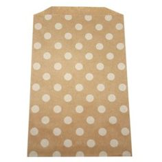 Kraft paper bag with polka dots White