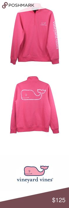 Vineyard Vines 1/4 Zip Size L Vineyard Vines Graphic 1/4 Zip in Jetty Red. Size L THIS ITEM QUALIFIES FOR FREE SHIPPING- just ask !  Vineyard Vines Tops Sweatshirts & Hoodies
