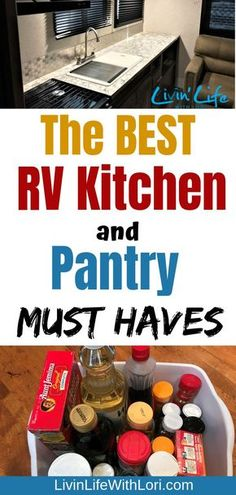 Here are tips to help you organize your RV Kitchen and Pantry. These RV Kitchen and Pantry Must Haves will list the basic items you will need in your RV! checklist hacks products tips box camping camping campers caravans trailers travel trailers Rv Camping Tips, Travel Trailer Camping, Outdoor Camping, Camping Ideas, Rv Travel, Travel Trailers, Camping Essentials, Camping Stuff, Camping Pantry