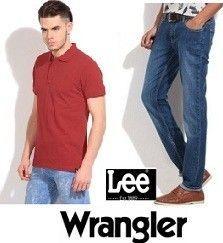Min 60% off on Men's & Women's Clothing on Lee, Wrangler Store