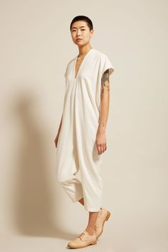 Miranda Bennett Everyday Jumpsuit in Natural Silk Noil