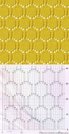 new ideas for knitting stitches unusual Lace Knitting Stitches, Lace Knitting Patterns, Cable Knitting, Knitting Charts, Easy Knitting, Knitting Designs, Stitch Patterns, Diy Crafts Knitting, How To Purl Knit