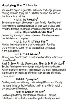 stephen covey 7 habits of highly effective families pdf