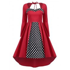 SHARE & Get it FREE   Backless Polka Dot High Low Retro DressFor Fashion Lovers only:80,000+ Items·FREE SHIPPING Join Dresslily: Get YOUR $50 NOW!
