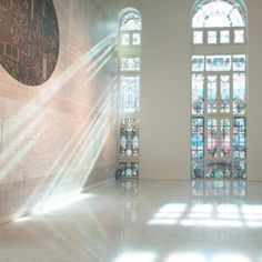 Studio+Job's+Futopia+Faena+exhibition+includes+stained+glass+windows+and+a+roller+disco