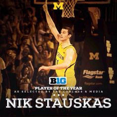 It's Official. Nik Stauskas is the Big Ten Player of the Year.