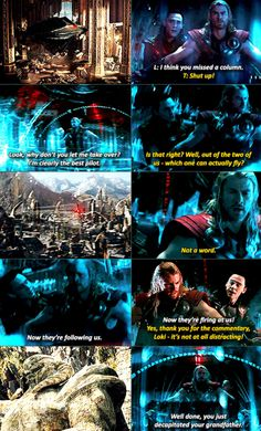 This was one of many hilarious scenes from Thor: The Dark World. I laughed sooo hard!! I loved the entire movie!