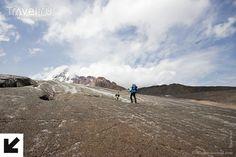 Гергетинский ледник и приют на Метеостанции