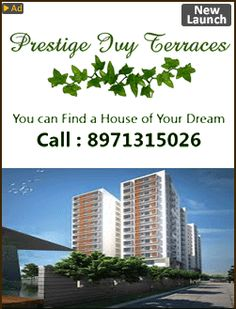 Having easy and comfortable accessibility from the area to needy situate of the city, this amenities can save your time and can elevate ordinary life to an extraordinary life  Details of Other Prestige  Group Projects. The project defines a new lifestyle for the contemporary cosmopolitan in the form of housing apartments which is all set ready to cast a spell on you.